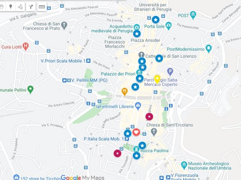 La mappa di Perugia. La guida della città con cartina interattiva