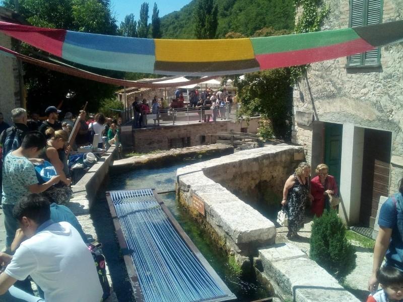 Rasiglia il borgo delle acque in Umbria.