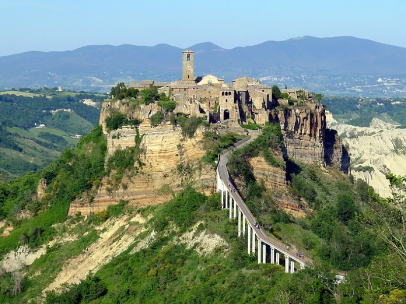 Orvieto and Civita di Bagnoregio including Underground caves and Lunch