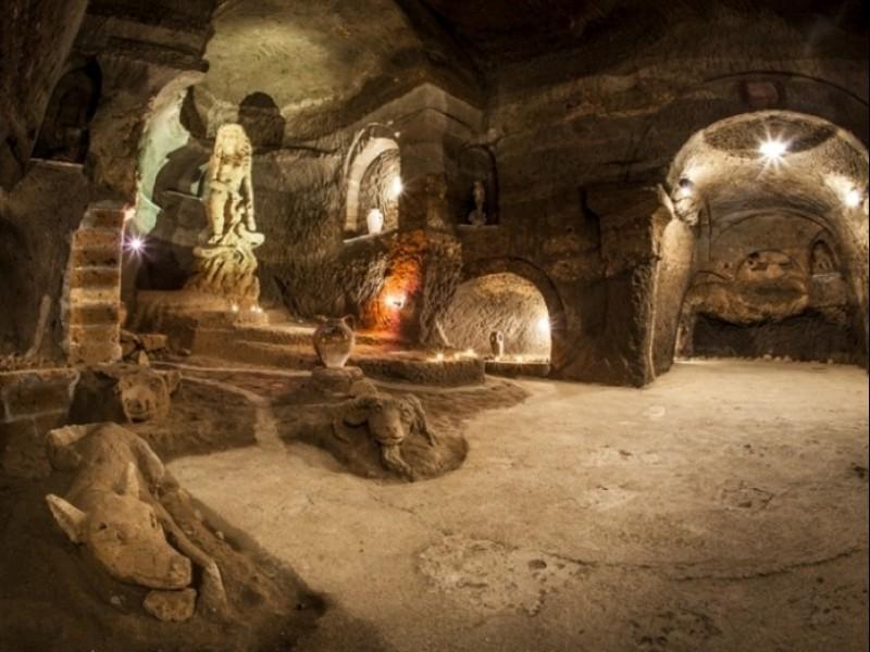 Aperitivo nelle grotte della città sotterranea di Orvieto