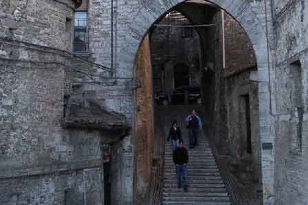 The alleys in Perugia